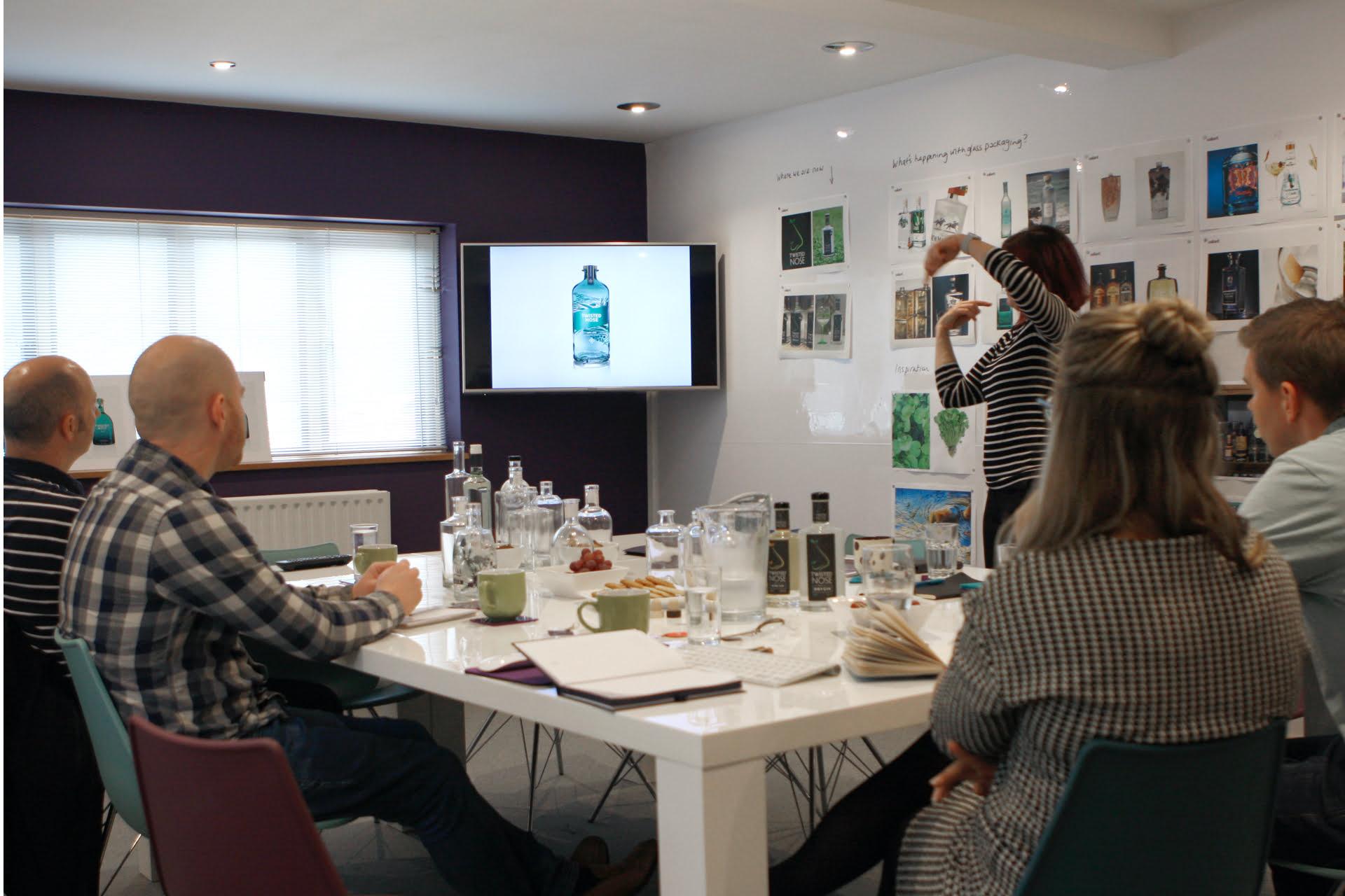 Branding workshop for spirit bottle design
