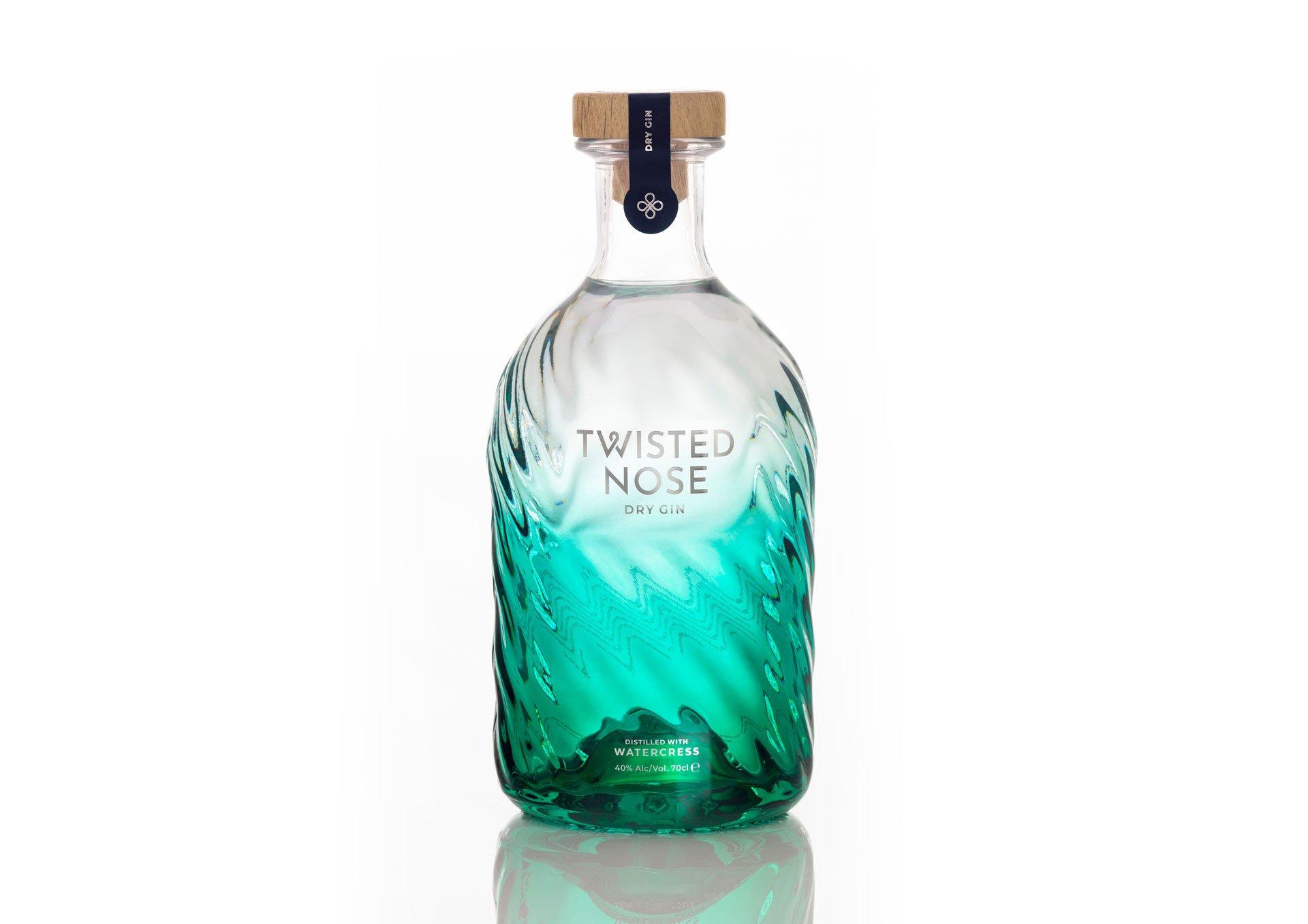 Beautiful gin bottle design